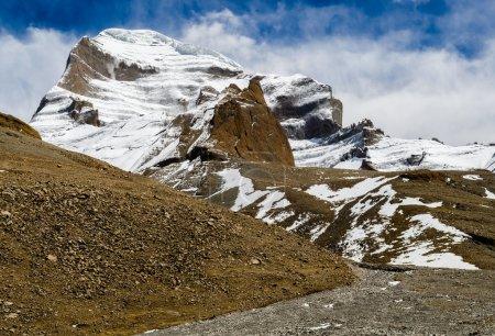 Foto de Tíbet. Monte kailash. - Imagen libre de derechos