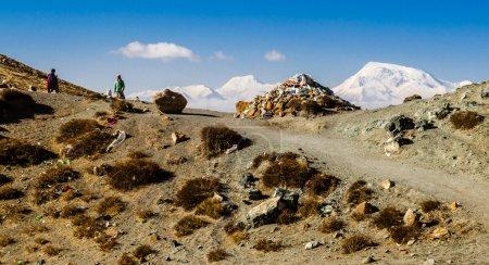 Foto de Tíbet. Kora alrededor de Monte kailash. - Imagen libre de derechos