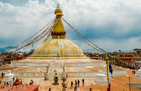 Boudhanath Stupa in Kathmandu. Nepal