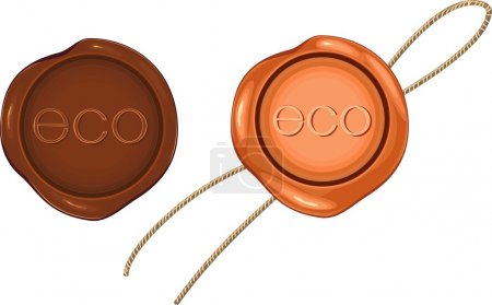 Brown wax seal for environmentally friendly products