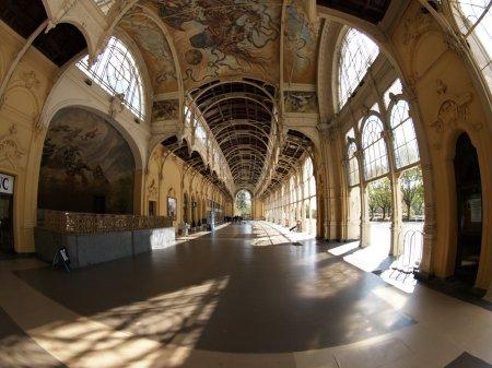 The colonnade in Czech spa town Marianske Lazne...