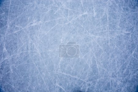Photo for Ice background with marks from skating and hockey - Royalty Free Image