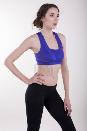 Sportive body of beautiful woman