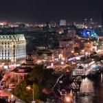 Night scene of Kiev, Ukraine...