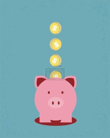 Illustration pour Économiser de l'argent - image libre de droit
