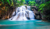 Deep forest waterfall at Huay Mae Khamin, Kanchanaburi Province,