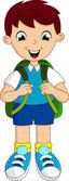 Boy with his school uniform