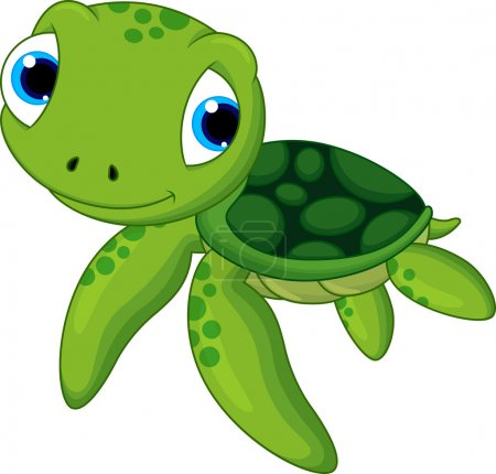 Illustration for Turtle babies are cute and adorable - Royalty Free Image