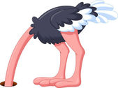 Funny ostrich cartoon