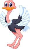 Funny ostrich cartoon