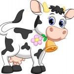 Illustration of cute cow cartoon...