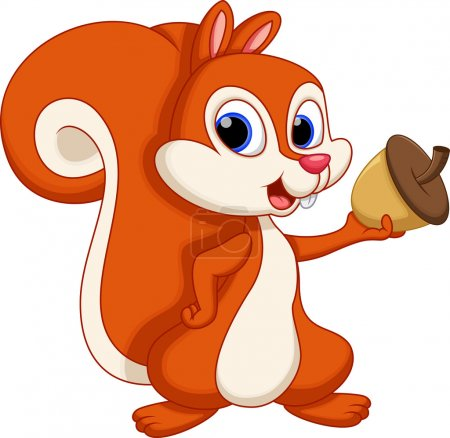 Cute squirrel cartoon...