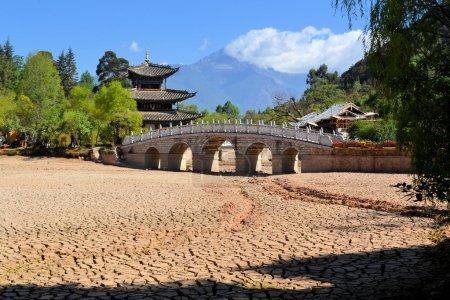 Drought in China, soil cracks, global warming