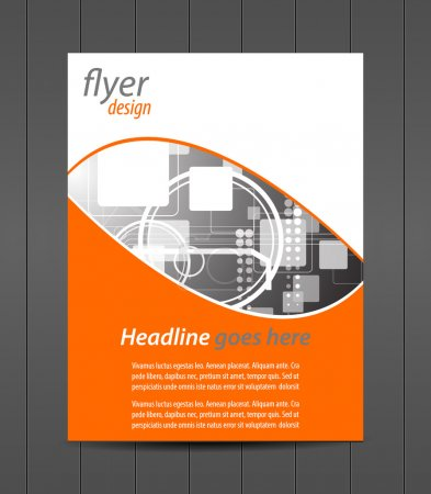 Professional business flyer template or corporate banner, cover design