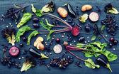 Постер Фиолетовые фрукты и овощи
