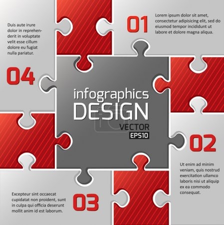 Infographics web design.