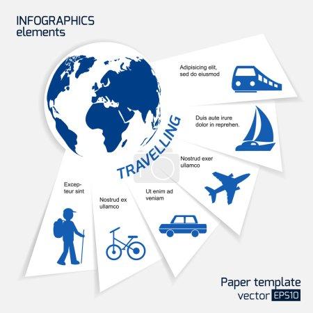 Travel infographics web design.