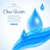 čistou vodu pozadí