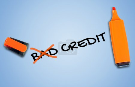 Bad credit word