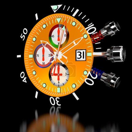 Chronograph Watch.