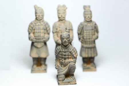 Terra Cotta Warriors with terra cotta warriors background by ancient china