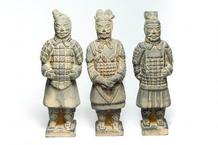 Three Terra Cotta Warriors by ancient china