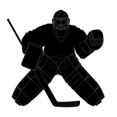 Silhouette hockey goalie