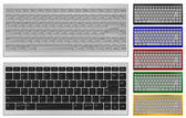 Keyboard with 84 keys