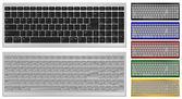 Keyboard with 100 keys