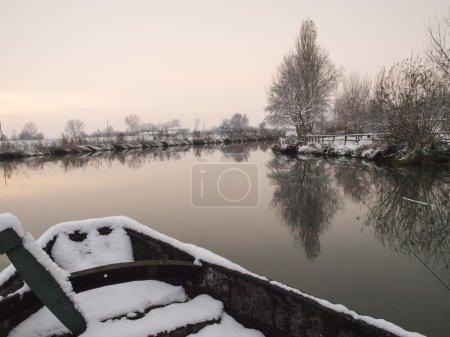 Plain Mantua, Italy - December 8, 2012: misty imag...