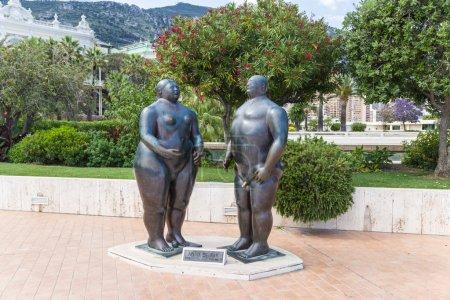 Monaco Adam and Eve sculpture