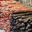 A Chinese sausage closeup in the market...