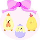 Set of Easter chicks