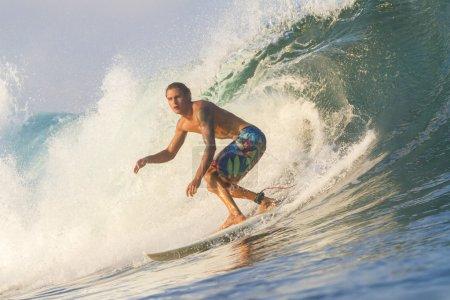 Surfer on waves