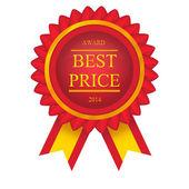Vektorové nejlepší cenu červený štítek