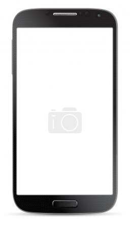 Smartphone isolated on white