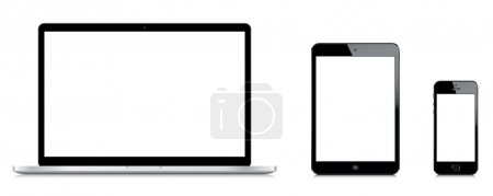 illustration of electronic devices