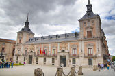 MADRID, SPAIN - MAY 28, 2014: Old Madrid city centre, busy street with people and traffic