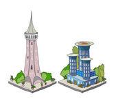 3D city icons set