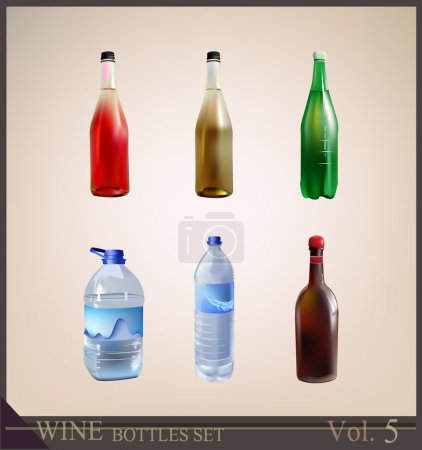 Background with bottle of fresh clean water