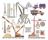 Industrial set icons HAPPY WORLD COLLECTION