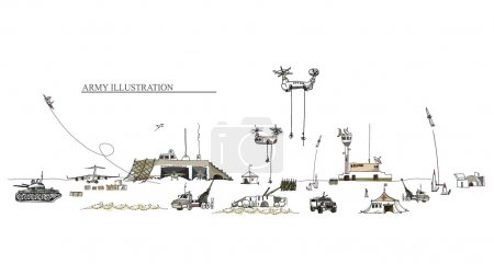 Army illustration, military concept