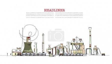 Illustration pour Vue industrielle - image libre de droit