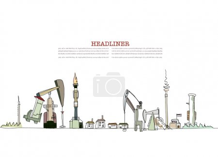Industpial consept, oil discovery ilustration
