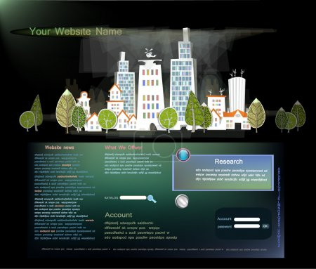 Web page template City, travel consept