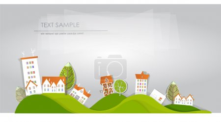 """Photo for Beautiful city street illustration """"White city"""" collection - Royalty Free Image"""