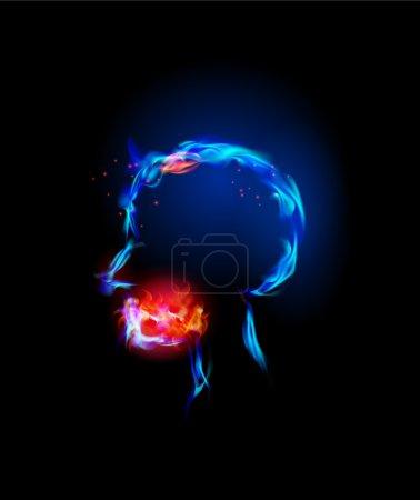 Fire collection Human head, headache, Pain
