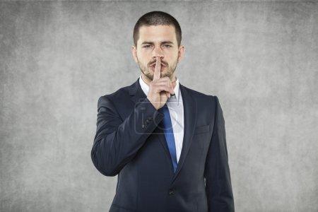 Photo pour Silence s'il vous plaît - image libre de droit