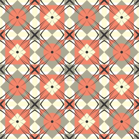 Raster vintage geometric pattern
