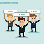 Cartoon business character vector illustration Corporate employee mitting concept